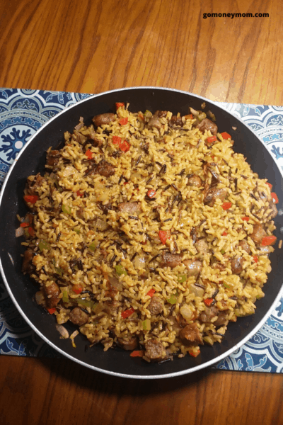 rice and sausage
