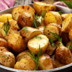 roasted potatoes in a bowl