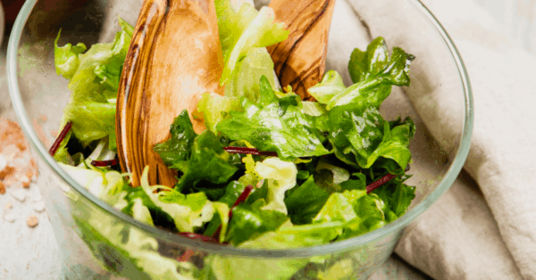 green salad in a bowl