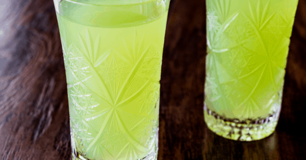 green Sherbet Punch in a glass