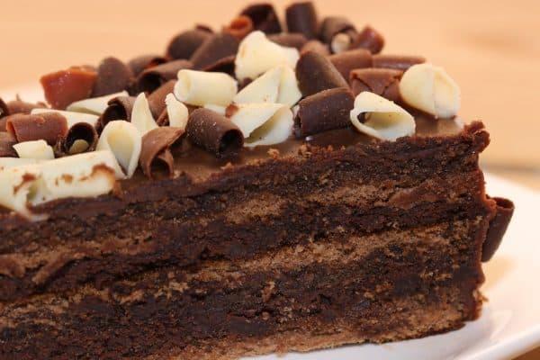 cake, chocolate cake, macro