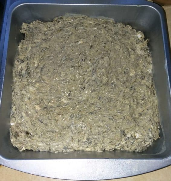 spinach dip in baking dish
