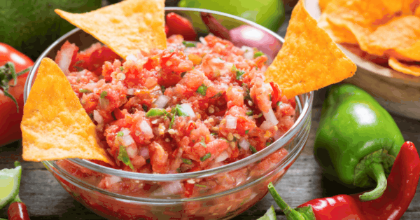 salsa,chips
