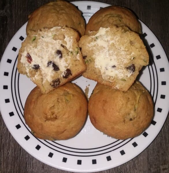 zucchini muffins with butter