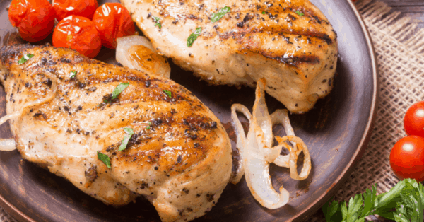 chicken breasts on a plate
