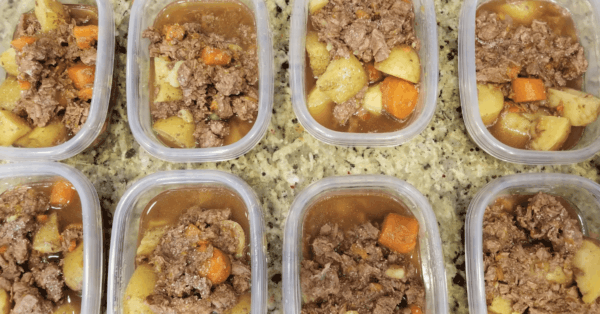 beef stew in containers
