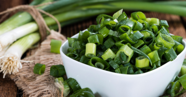 scallions in a bowl